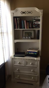 white dresser drawat with white book shelf detachable shelf  Alexandria, 22304
