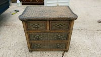 Wicker over wood chest and nightstand Bartlett