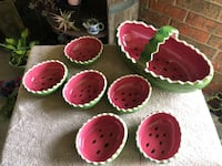 Watermelon bowl and basket