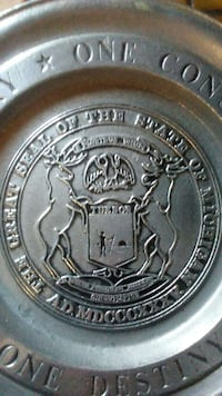 silver the great seal of the state of michigan med