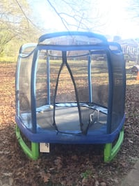 Black and gray trampoline with enclosure Pleasant Grove, 35127