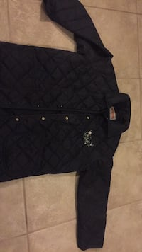 Girls Spring jacket never worn. I think it's about a 12-14. Navy in color. Laval, H7Y 2C1