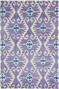 Gorgeous 5' x 8' Safavieh Purple and Ivory/Beige and Navy Area Rug