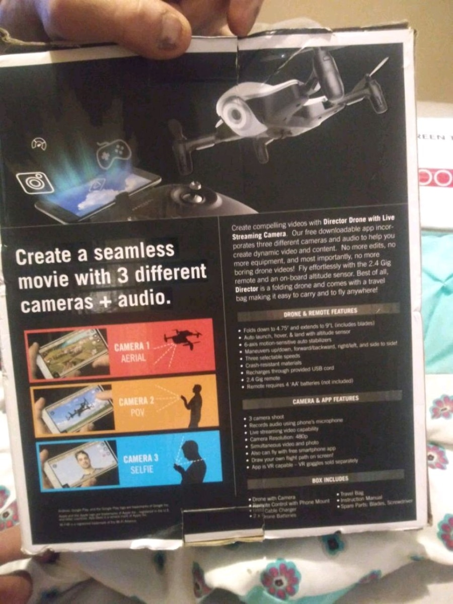 Photo Foldable drone with live streaming camera