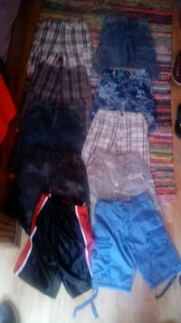 10 pair of boys size 10 shorts