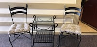 3-Piece Wrought Iron Table and Chair Set Bethesda, 20814