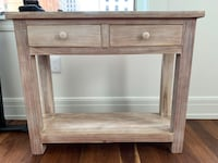 Solid Wood 2 Drawer Storage Unit. Great for Small Slim Space Detroit, 48226