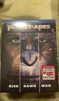 Planet Of The Apes Trilogy Bluray