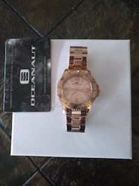 NEW Oceanaut OC9813 Women's Rose Gold Stainless Steel Watch Toronto