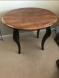 round brown wooden side table Reston, 20190