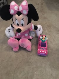 Minnie Mouse plush and car  Calgary, T3M