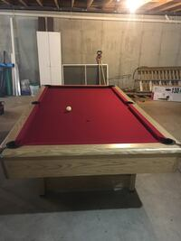 8ft 3 piece slate play craft pool table Voluntown, 06384