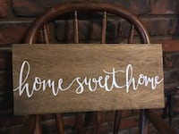 Hand Painted Wood Sign Sherman, 14781