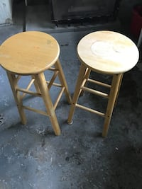 "2 Wooden Bar Stools 28"" High Toronto, M3M 2C2"