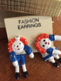 Adorable Teddy Bear Earings and Rag Doll Earings. $15 for both