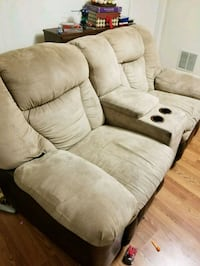brown fabric 2-seat sofa Gaithersburg, 20878