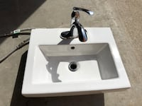 Magickwoods Countertop Sink with Hardware Vaughan