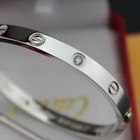 "Cartier Love Bracelet Silver ""White Gold"" with Sto Toronto"