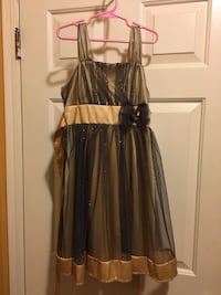 Justice Dress - Black and Gold - Size 8 Tinton Falls, 07753