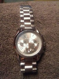 round silver-colored chronograph watch with link bracelet Rossville, 30741