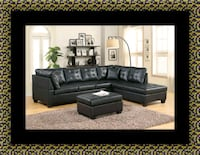 Black sectional with ottoman College Park