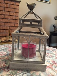 Partylite candle lantern..indoor/outdoor candle not included