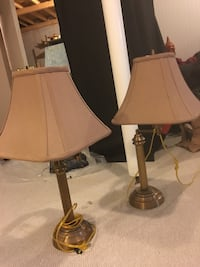 2 brass swing arms lights with shade  Oakville, L6M 3N8