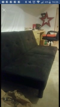 Ikea Black Futon Troy, 12180