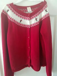 Girl's red winter sweater Sz 11-12 (lg) Bowie, 20720