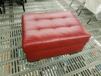 Red Leather Ottoman Vaughan, L4L 8S9