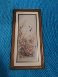 Hummingbird photo in wooden frame