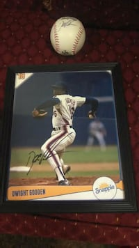 Autographed (Dwight Gooden)  8 by 10 picture!!  Coram, 11727