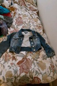 XOXO brand ripped Jean style short jacket with 2 pockets. Must go ASSP San Diego, 92121