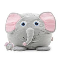 gray elephant plush toy