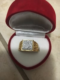 silver and diamond ring with box Edmonton, T6R 3G4