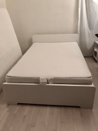 Full-sized IKEA bed frame, mattress + cover Capitol Heights, 20743