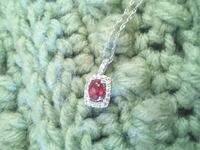 1.23 carat ruby, white saphire necklace Clyde, 43410