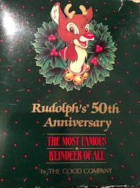 50th anniversary Rudolph the red nose reindeer ornament Elmwood Park, 07407
