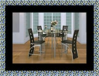 Counter height glass dining table with 4 chairs Beltsville