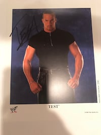 WWF Official Promo Signed Authentic Englishtown, 07726