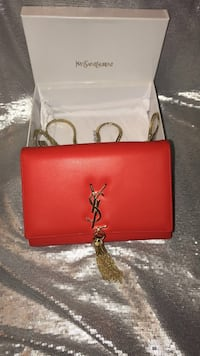 Red yves saint laurent purse ysl