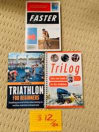 Various endurance / triathlon / training books for sale