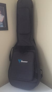 gray Ibanez gig bag