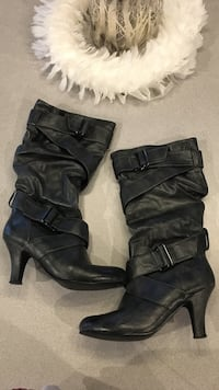 SIZE 7 women black boots with heel Vancouver, 98665
