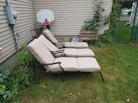 3 long chairs with cushions very good conditions  Montréal, H4R 2G9