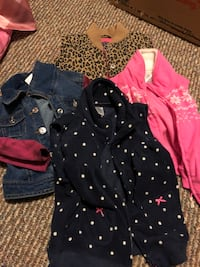 Girl's assorted clothes. Various sizes & season styles.