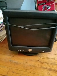 black and gray CRT