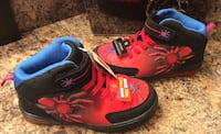 Spiderman boy's red, black, & blue high cut shoes- lights up, brand new with tag Calgary, T2J