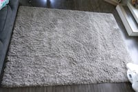 5ft x 7ft grey shag rug