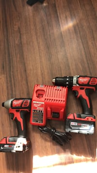 red and black Milwaukee cordless power drill Fort Myers, 33916